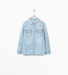DENIM SHIRT WITH POCKET-Tops-Girl-COLLECTION AW15 | ZARA United States
