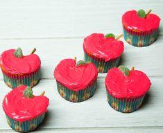 Estos cupcakes decorados en forma de manzana serán el regalo perfecto para los maestros de tus hijos o para cualquier ocasión en la que quieras dar un lindo detalle.