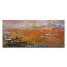 Patrick Adams // Adamah // Oil paint on panel 36 x 80 // View more of #PatrickAdams online by visiting abersonexhibits.com // #ExhibitByAberson
