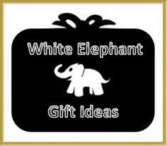 White elephant gift idea center
