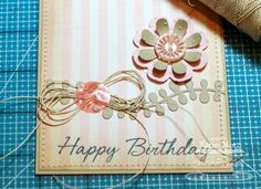 Paper Playhouse: Happy Birthday and a Loopy Hemp Cord Bow Tutorial