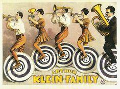 The Arthur Klein Family, 1923 circus poster