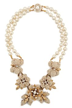 Garden of Elegance Necklace--this looks like a Miriam Haskell, arguably one of the most talented and imaginative jewelry designers of the 20th century.