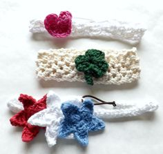 Holiday Baby Headband Set of Three  by AbigailsAttic112 on Etsy, $20.00