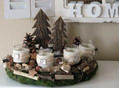 Advent wreath * enchanted natural wreath * White Christmas ornaments felt acorn decorations set of Christmas Advent Wreath, White Christmas Ornaments, Christmas Mood, Noel Christmas, Christmas Candles, Christmas Crafts, Christmas Decorations, Holiday Decor, Advent Wreaths
