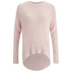 The Fifth Women's Magnolia Knit Jumper - Shell Pink ($185) ❤ liked on Polyvore featuring tops, sweaters, pink, pink knit top, knit jumper, knit jumper sweater, sea shell top and jumpers sweaters