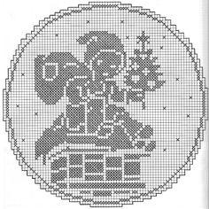 Kira scheme crochet: Scheme crochet no. Graph Crochet, Filet Crochet Charts, Doily Patterns, Needle Tatting Patterns, Crochet Carpet, Fillet Crochet, Crochet Winter, Crochet Home Decor, Embroidery Patterns