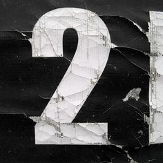 typography number - contrast - vintage - noise - typo - letter - lettering - two