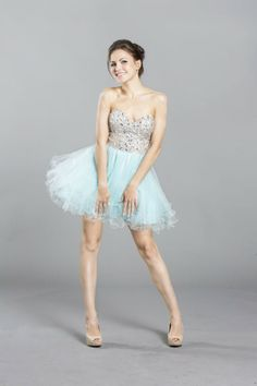 Damas Dress available in Tiffany Blue, Nude, Black, and Coral.  Perfect dress for your court! #QuinceañeraDress #Sweet15