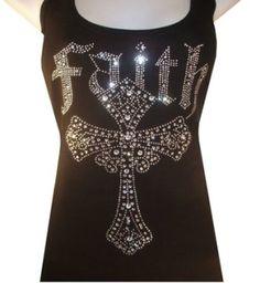 Faith Cross Rhinestone Bling Country Girl Shirt