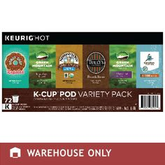 Green Mountain K-Cup Pod Variety Pack 72-Count