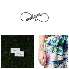 To Infinity  Temporary Tattoo Set of 2 by Tattify on Etsy, $5.00
