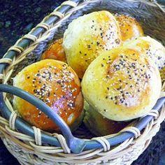 Inspired By eRecipeCards: Sodom and Gomorrah Hamburger Buns (Garlic, Sea Salt and B&W Sesame Seeds)