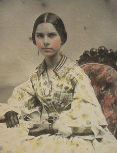 Cuttings Patent Reversible Ambrotype Woman in Yellow Dress | eBay