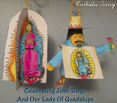 Celebrating the feast of St. Juan Diego and Our Lady of Guadalupe. Find the printable Advent Saint ornaments here!