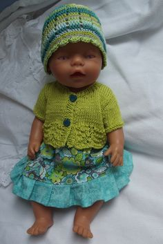 Baby Born, Knit Crochet, Crochet Hats, Knitted Dolls, Ag Dolls, Doll Clothes, Granddaughters, Knitting, Dresses