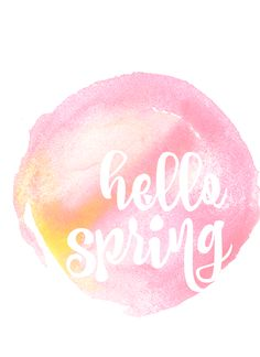 hello spring free printable in pink and yellow copy