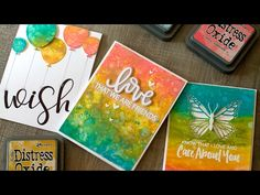 Tim Holtz demos Distress Oxide Inks at Ranger - Creativation - CHA 2017 Card Making Tips, Card Making Tutorials, Card Making Techniques, Making Ideas, Tim Holtz, Distress Markers, Distress Oxide Ink, Distress Ink Techniques, Jennifer Mcguire Ink