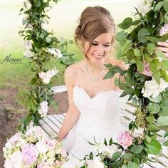 Lovely bride on a garden swing Wedding Makeup, Wedding Bride, Wedding Flowers, Wedding Dresses, Beautiful Bridal Makeup, Thing 1, Hair Studio, Hair Styles, Party