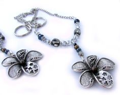 Flower Curtain Tiebacks Silver Flower Chain by EarthlieTreasures, $30.00