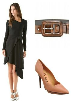 Willow dress paired with a Miu Miu belt and Lanvin shoes.
