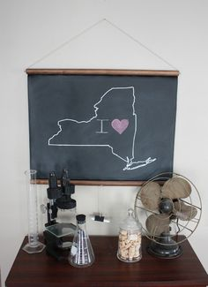 I heart this chalkboard map. $45 #home #decor