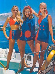 bright vintage swimwear