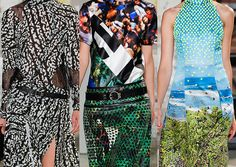 Proenza Schouler SS2013-Abstracted and Distressed / Photographic Landscapes / Graphic Impact / Patchwork Pieces