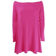 The Home of Fashion Womens Cerise Pink Bardot Off Shoulder Long Sleeve Swing Dress Size 8 The Home of Fashion http://www.amazon.co.uk/dp/B00T65EF24/ref=cm_sw_r_pi_dp_s260ub075W58E
