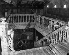 THE EASTLAND DISASTER: Chicago, 1915 (More photos in this section) - A man sits at the base of a stairway in the interior of the SS Eastland after it was drained and righted in August 789 lives were lost when the boat capsized at the dock. Chicago River, Chicago City, Chicago Style, Chicago Tribune, Chicago Illinois, Great Lakes Ships, Port Huron, My Kind Of Town, Armada