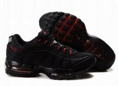 Nike Air Max 95 dame løbesko sort rød