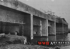 World War II Photograph: St. Nazaire, France, bomb-proof shelter for submarines, built by the Germans.