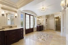 Bathroom of luxury home in Ridgefield, Connecticut