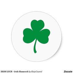 IRISH LUCK - Irish Shamrock Classic Round Sticker