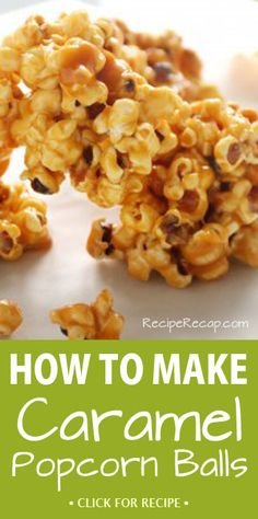 Caramel corn is a classic dessert, and turning it into popcorn balls makes it that much better! This is an easy recipe great for snacking or dessert.