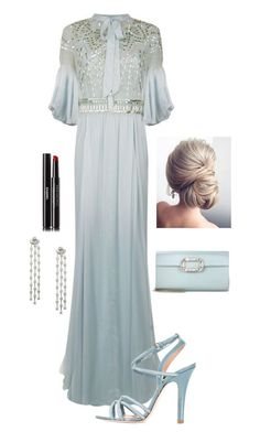 """A formal Evening"" by kotnourka ❤ liked on Polyvore featuring Temperley London, RED Valentino, Roger Vivier and Chanel"