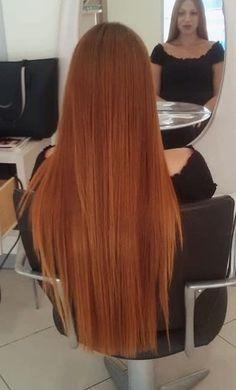 Hair Dye Colors, Cool Hair Color, Brown Hair Chart, Long Red Hair, Natural Red Hair, Ginger Hair Color, Auburn Hair, Smooth Hair, Human Hair Wigs