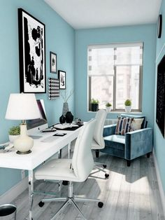 Turquoise clair Home Office Light Turquoise Home Office Turquoise clair Home Office The post Turquoise clair Home Office appeared first on New Pics. Living Room Turquoise, Blue Living Room Decor, My Living Room, Living Room Designs, Blue Home Offices, Home Office Space, Home Office Design, Deco Turquoise, Bedrooms
