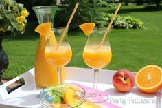 Frosty Peach Bellini Recipe
