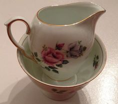 Wowel polish china sugar bowl and creamer