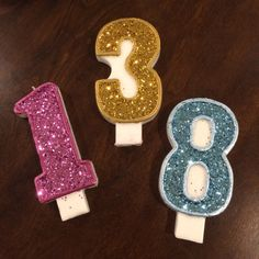 Glitter Birthday Candle 5 inch, Candle, Glitter, Sparkly Candle, Pick Your Number, Pick Your Color