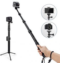 Professional Selfie Stick Monopod With Phone Clip Holder,HSU Waterproof Metal Phone Tripod Stand for GeekPro/Gopro Hero Black/Session ,Digital Cameras and Cell Phone Phone Tripod, Best Selfies, Gopro Hero 5, Waterproof Camera, Gopro Camera, Photography Accessories, Selfie Stick, Phone Photography, Photography Equipment