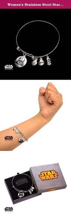 """Women's Stainless Steel Star Wars Darth Vader Charm Expandable Bracelet. Women's Stainless Steel Star Wars Darth Vader Charm Expandable Bracelet. Licensed Jewelry Box Included. Dimension: 7 1/2"""" (Length) x 1/16"""" (Width) x 1/16"""" (Height)."""