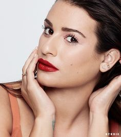 Obsessing over Lea Michele's red lips and long lashes.