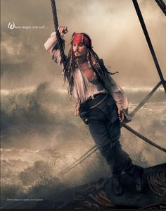 Johnny Depp as Jack Sparrow Photographed: Annie Leibovitz for Disney