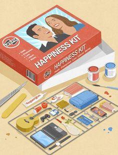 El kit de una vida feliz.   John Holcroft
