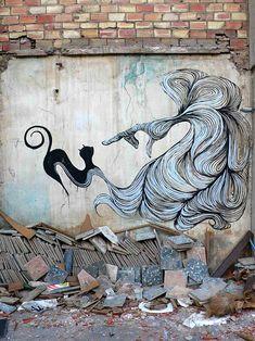 by Hyuro  #streetart #art #graffiti