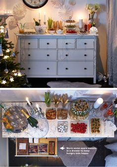The timeless style and classic lines of the HEMNES dresser beautifully complement a casual holiday meal and stores all the essentials needed.