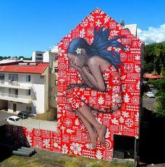 by Julien Malland - french painter on Festival de Arte Urbana ONO'U, Tahiti