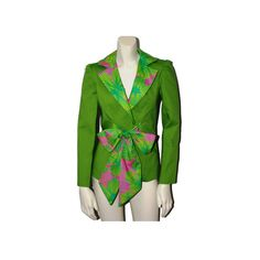 Green and Pink Lined Jacket by AnnieBriggs on Etsy, $142.00 #handmade